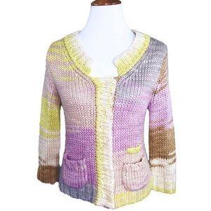 Anthropologie Fuzzy Knit Cardigan Sweater